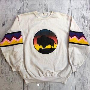 Vintage Buffalo sweater Large fit
